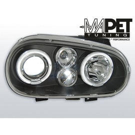 VW Golf 4 97-03 clear Angel Eyes BLACK soczewka ringi LPVW60