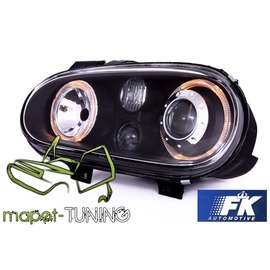 VW Golf 4 clear Angel Eyes BLACK soczewka ringi LPVW70 DEPO