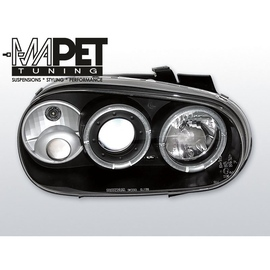 VW Golf 4 97-03 clear Angel Eyes BLACK soczewka ringi LPVW07