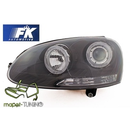 VW Golf 5  / Jetta clear Angel Eyes BLACK soczewka ringi  FK