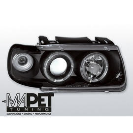 VW Polo 6N 94-99 clear Angel Eyes BLACK ringi LPVW09