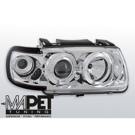 VW Polo 6N 94-99 clear Angel Eyes CHROM ringi LPVW05