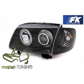 VW Polo 6N2 99-01 clear Angel Eyes BLACK  ringi LPVW63  DEPO