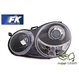 VW Polo 9N 01-05 Angel Eyes BLACK soczewka ringi LPVW59 FK