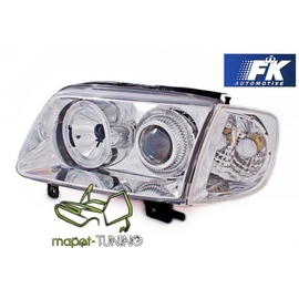 VW Polo 6N2 99-01 clear Angel Eyes CHROM ringi LPVW57  FK