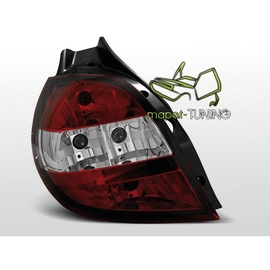 Renault Clio 05 - 09 Clearglass RED WHITE - LTRE24