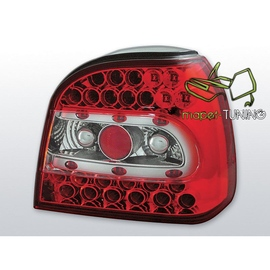 VW Golf 3  - clearglass RED WHITE LED - diodowe LDVW13