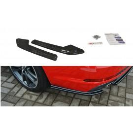 Splittery Boczne Tylnego Zderzaka ABS - Audi A4 B9 S-Line Avant (wydech po 2 stronach)