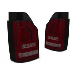 VW T6 SMOKED RED LED BAR diodowe z dynamicznym kierunkowskazem LDVWJ3