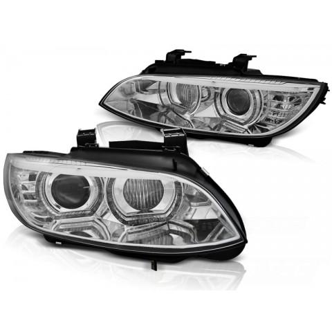 Lampy BMW E92/E93 06-10 Xenon AFS CHROM diodowe LED DRL dzienne  LPBMJ2