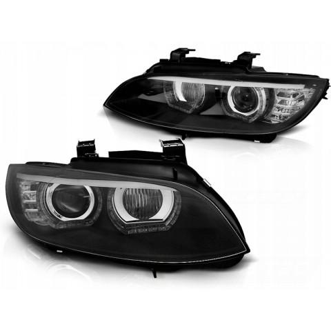 Lampy BMW E92/E93 06-10 Xenon AFS BLACK diodowe LED DRL dzienne LPBMJ3