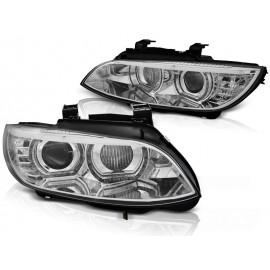 Lampy BMW E92/E93 06-10 Xenon CHROM diodowe LED DRL dzienne LPBMJ4