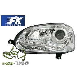 VW Golf 5 / Jetta - CHROM LED -  Bi-halogen  diodowe LPVWG4