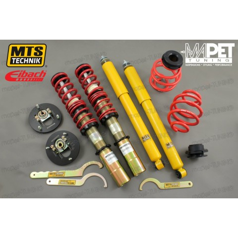 BMW E30 - gwint MTS-technik + camber Plates Black Gold Edition (45mm)