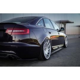 Splittery Boczne Tylnego Zderzaka ABS - Audi A6 C6 S-line Facelift Sedan