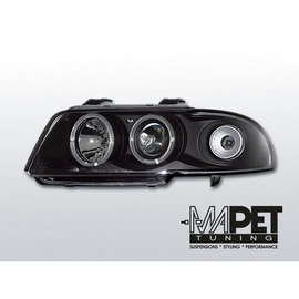 Audi A4 B5  94-98 Angel Eyes Black - Ringi  LPAU03