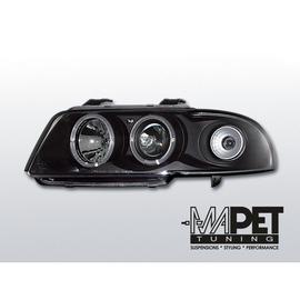 Audi A4 B5 94-98 Angel Eyes Black - Ringi LPAU03