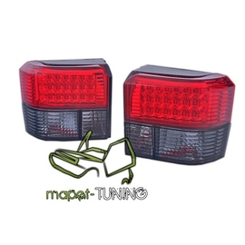VW T4 Caravelle / Multivan / Transporter  LED RED BLACK diodowe