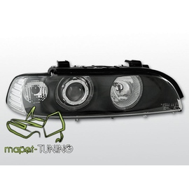 BMW E39 BLACK clearglass Angel Eyes z soczewką + ringi LPBM09