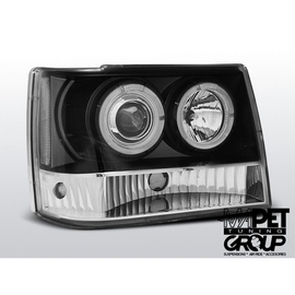 CHRYSLER JEEP GRAND CHEROKEE 93-98 BLACK Angel Eyes LPCH12