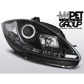 Seat Leon 1P 09-12 BLACK LED - diodowe DRL dzienne LPSE26