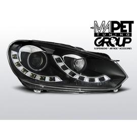 VW Golf 6  - BLACK CCFL LED DRL - diodowe światła jazdy dziennej  LPVWI9