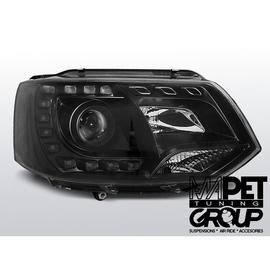VW T5 2010- BLACK LED DRL - diodowe światła jazdy dziennej  LPVWK3