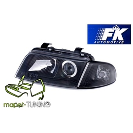 Audi A4 B5 94-99 clearglass xenon S4 look BLACK H7  LPAU56