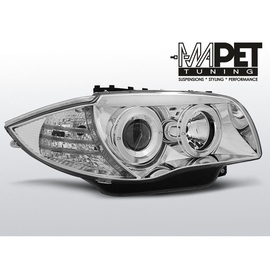 BMW 1 E87 / E81 04-11 CHROM Angel Eyes ringi LPBM79