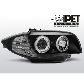 BMW 1 E87 / E81 04-11 BLACK Angel Eyes ringi LPBM80