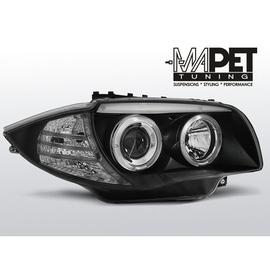 BMW 1 E87 / E81  04-07  BLACK Angel Eyes  ringi  LPBM80