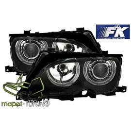 BMW E46 Sedan / Touring 01-05 Angel Eyes BLACK Ringi  FK LPBM86