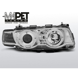 BMW E38 98-01 Angel Eyes CHROM Ringi H7 LPBM71