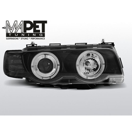 BMW E38 98-01 Angel Eyes BLACK Ringi H7 LPBM72