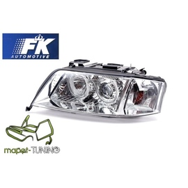 Audi A6 C5 (01-04) CHROM Angel Eyes Xenon D2S FK LPAU83
