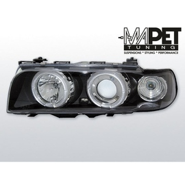 BMW E38 94-98 Angel Eyes BLACK Ringi soczewkowe czarne LPBM37