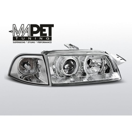 Fiat Punto I clear Angel Eyes CHROM soczewki ringi FK LPFI07