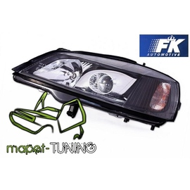 Opel Astra G clearglass XENON Look BLACK H7 LPOP86
