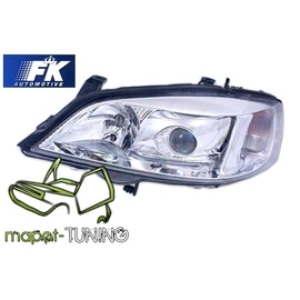 Opel Astra G clearglass XENON Look CHROM H7 LPOP85