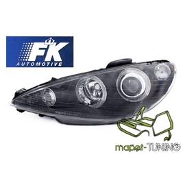 Peugeot 206 98-  Clearglass Angel Eyes Black - FK LPPE27