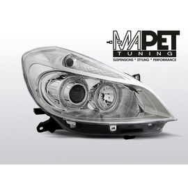 Renault Clio 3 05-09 clear Angel Eyes CHROM soczewka ringi FK LPRE29