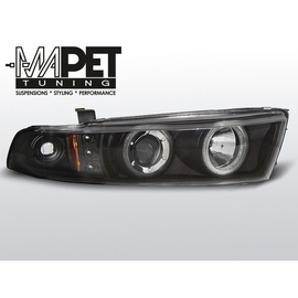 Mitsubishi Galant 8 96-06 clear Angel Eyes BLACK ringi LPMI14