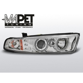 Mitsubishi Galant 8 96-06 clear Angel Eyes CHROM ringi LPMI13