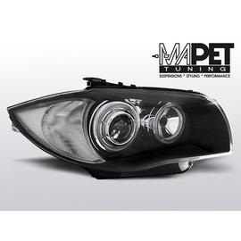 BMW 1 E87 / E81  04-07  BLACK Angel Eyes  ringi  LED FK LPBMD5