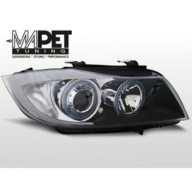 BMW E90 / E91  Angel Eyes BLACK Ringi  - DEPO / FK LPBM89