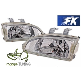 Honda Civic 91-95 clearglass CHROM LPHO14