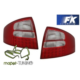 Audi A6 C5 Sedan - Clear Red / White Led - Diodowe FK  LDAU76