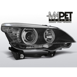 BMW E60 / E61  04-07  BLACK Angel Eyes  ringi  CCFL  LPBM64