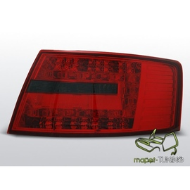 Audi A6 C6 Sedan - Clear Red / Black Led - Diodowe LDAU64