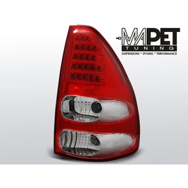Toyota Land Cruiser 120 - Red White LED diodowe LDTO07